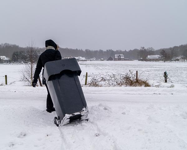 Afvalinzameling opgeschort vanwege winters weer