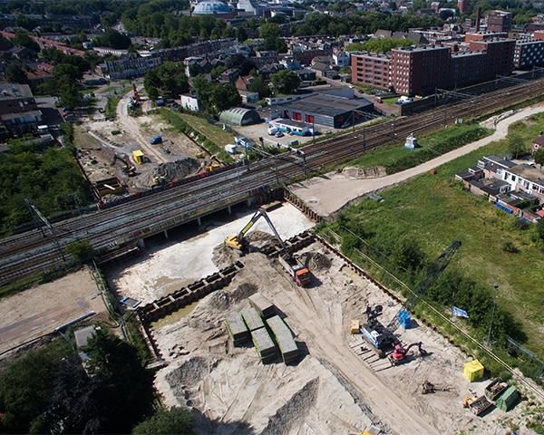 Bijzondere natte bouwkuip in Breda