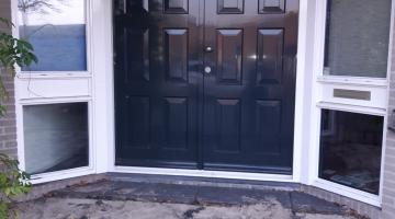 dubbele voordeur incl. kozijn