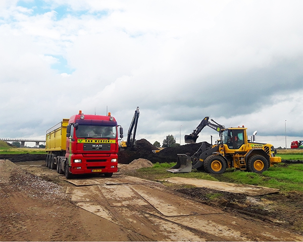 Fase 1 bouw windmolenpark Hattemerbroek gereed