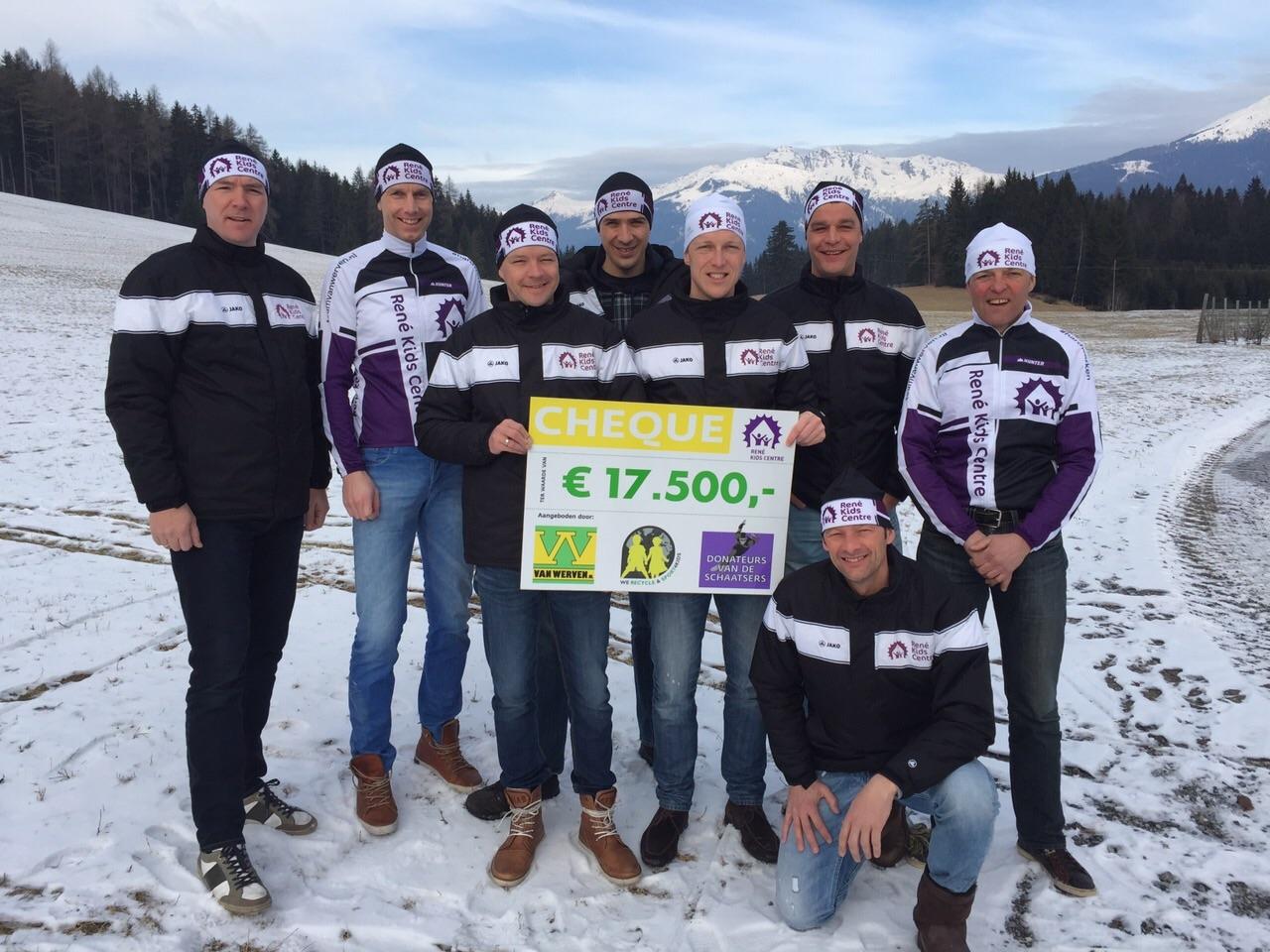 Schaatsen op de Weissensee: 17.500 euro voor René Kids Centre!