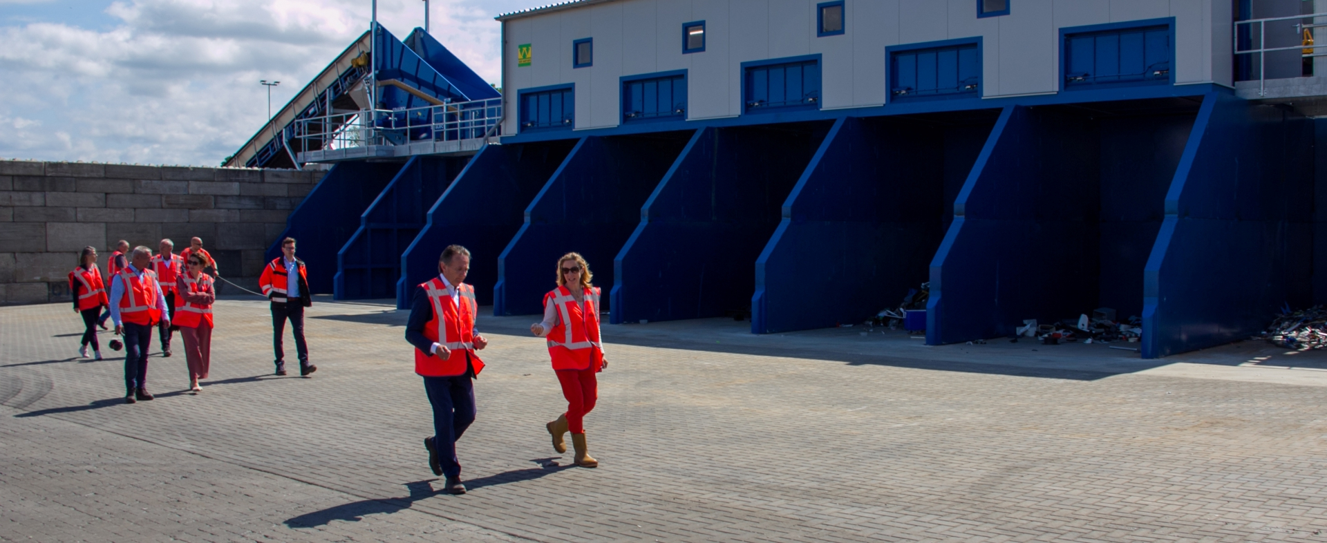 Staatssecretaris Van Veldhoven geeft startsein voor nieuwe sortering