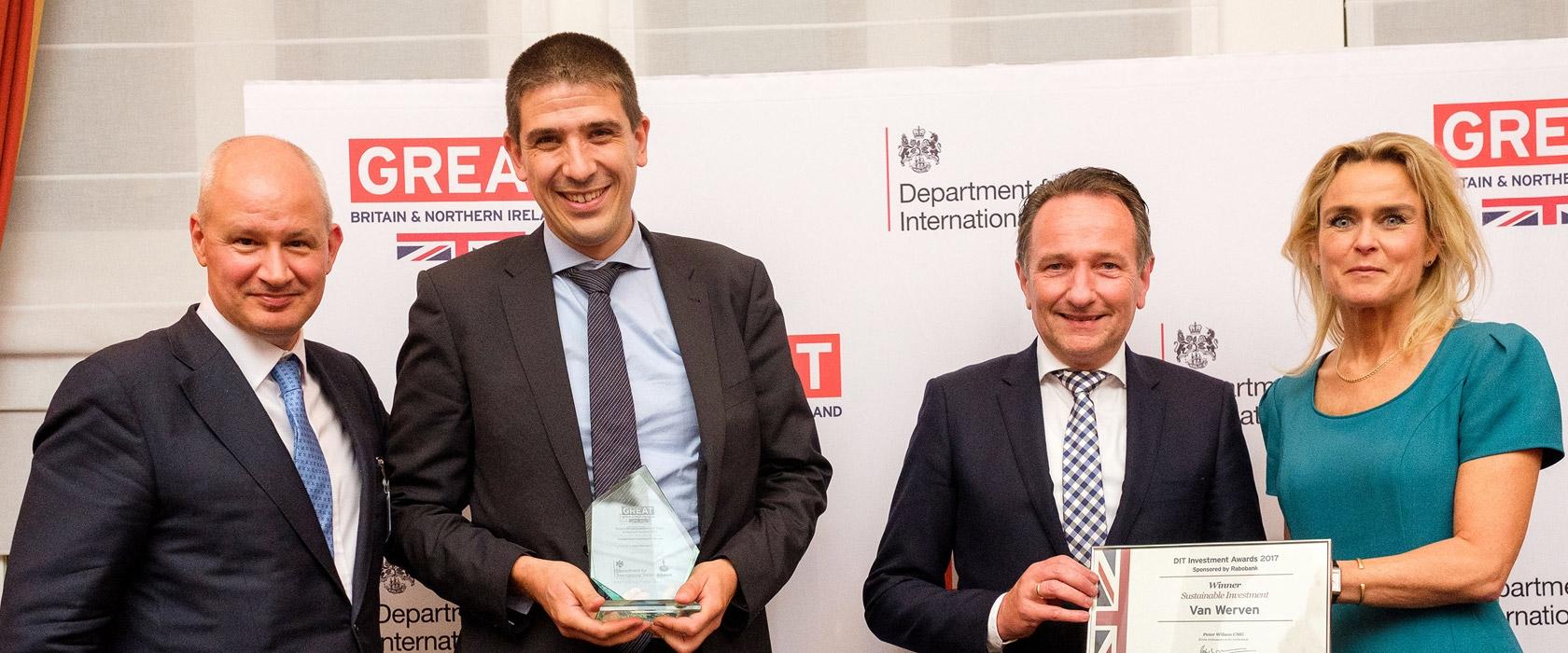 Sustainable Investment Award uitgereikt aan Van Werven