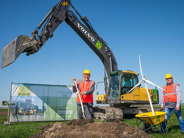 Symbolische start aanleg windmolenpark Hattemerbroek
