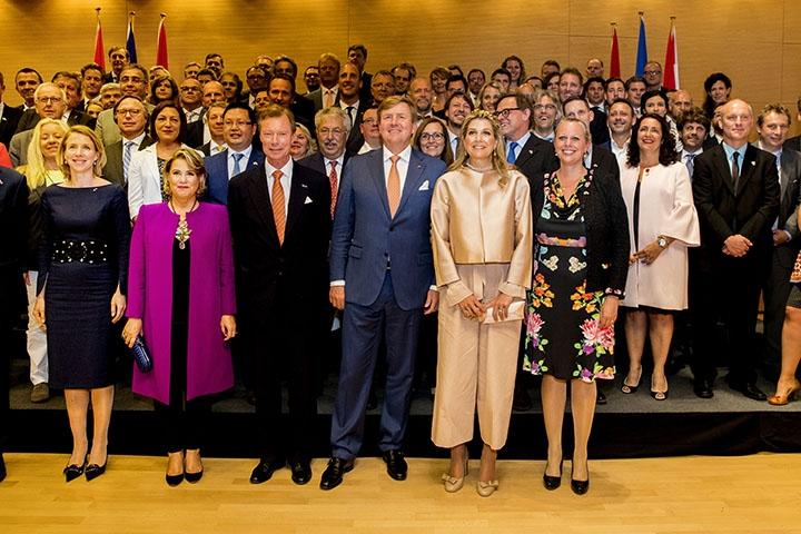 Van Werven ontmoet Koninklijk Paar tijdens Economisch Programma Luxemburg