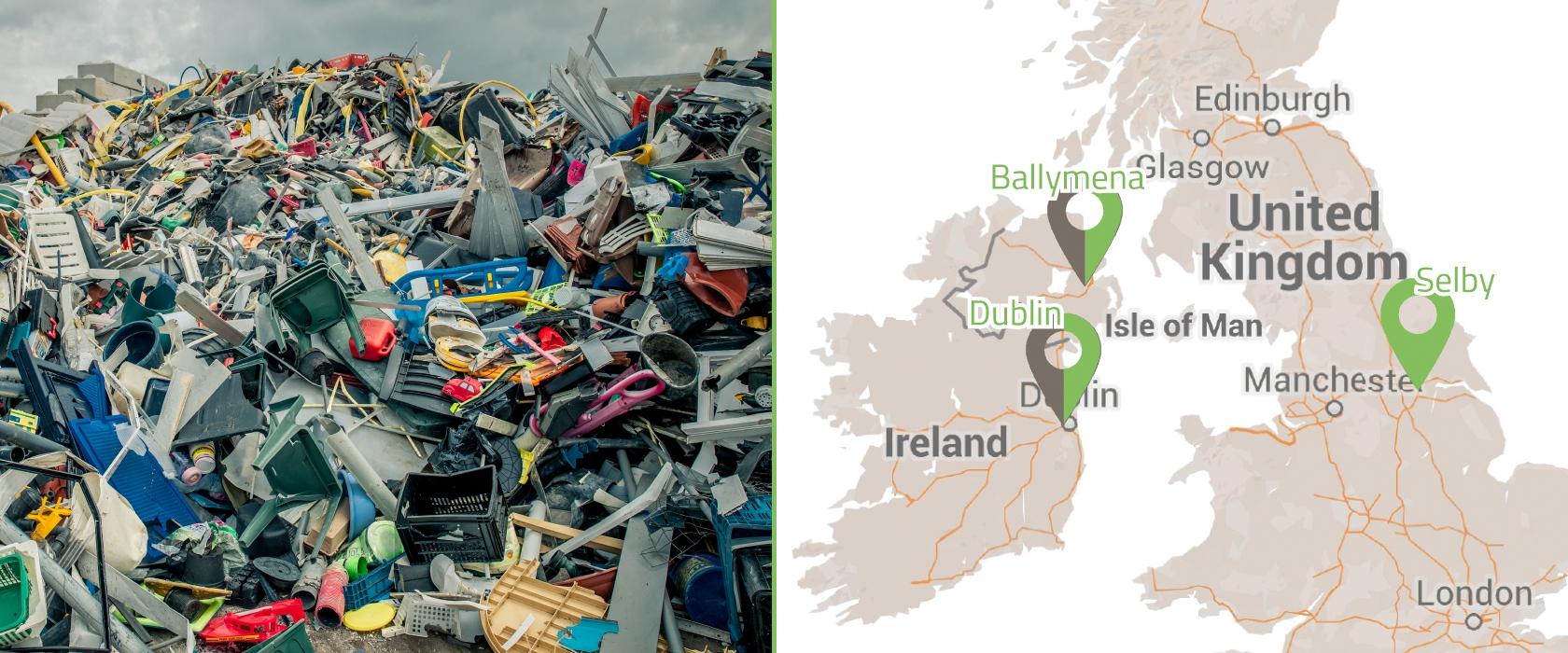 Van Werven start plastic recycling activiteiten in Ierland