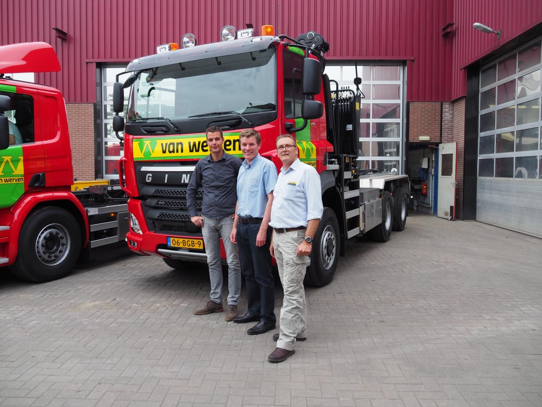 Vier nieuwe vrachtwagens voor Van Werven